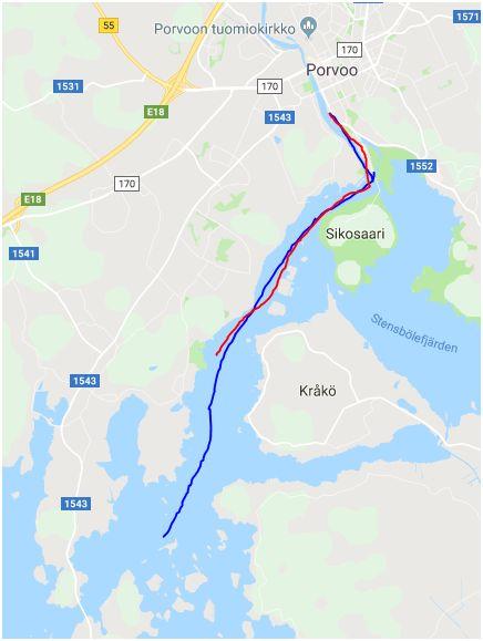 Ruttkarta -  Route guide