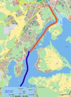 Reittikarta - Ruttkarta- Cruise routes